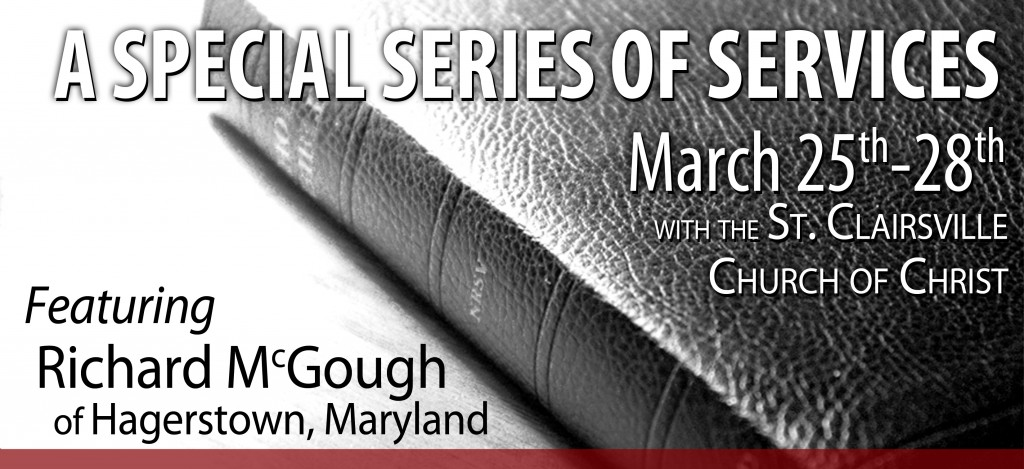 A Special Series of Services with Richard McGough, March 25th-28th