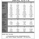 June Service Schedule