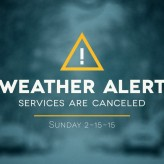 Services for 2-15-15 Canceled